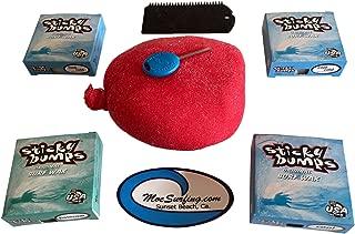 Sticky Bumps Wax Plus Fireball Wax Remover, Flexcomb Scraper, Future Fin Key Total of 4 Bars of Wax 3 Cool/Cold and 1 Base Coat.