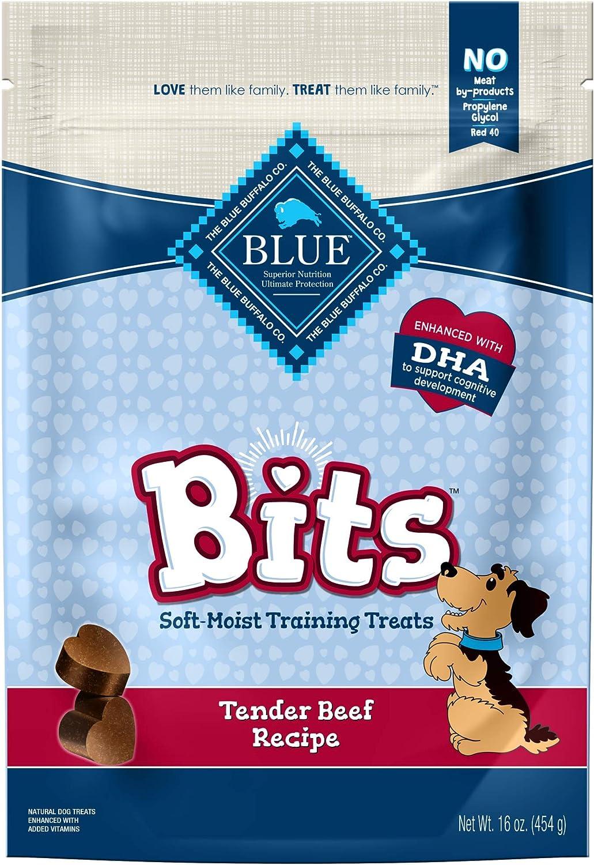 bluee Buffalo bluee Bits Tender Beef Recipe SoftMoist Training Dog Treats, 16oz