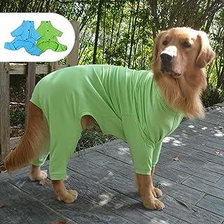 Lovelonglong Dog Cotton Pajamas Elastic Warm Pet Turtleneck Sweater 4 Legs Full Covered Onesie Jumpsuit for Small Medium L...