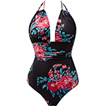 7d483c63b3 B2prity Women  39 s One Piece Swimsuits Tummy Control Swimwear Slimming  Monokini Bathing Suits