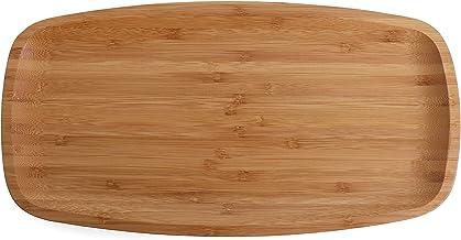 """Belari 14"""" Bamboo Plate Set - Bamboo Reusable Plates - Rectangle Bamboo Plates - Wood Plates Dinnerware - Bamboo Dinner Pl..."""