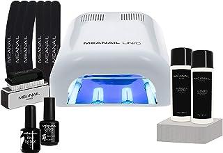 Lampara LED UV Secador de Uñas Esmalte Semipermanente Pintauñas Decoración de Uñas Kit Manicura y Pedicura Nail Factory Edition Basic White