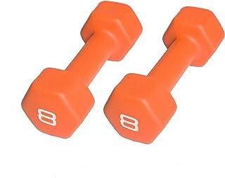CAP Barbell Neoprene Coated Dumbbell (Pair), 8 lb, Orange