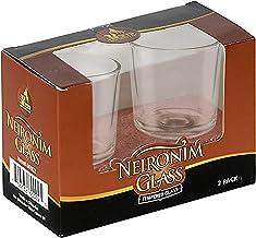 Neironim Glass With Candles - Neronim Shabbat Candles set - 2 Pack