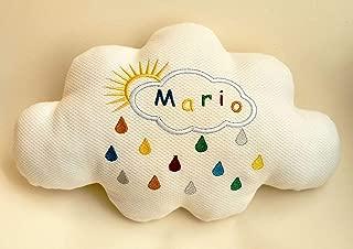 Cojín nube para bebé, bordado a máquina personalizado con su ...