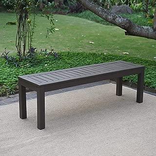 Cambridge-Casual 817140 Alfresco Backless Bench, Dark Grey