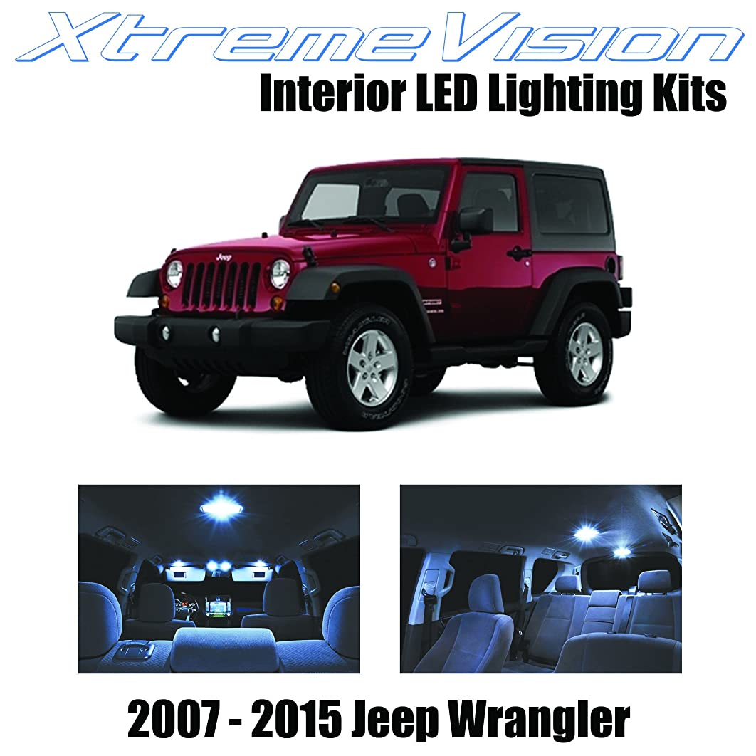 XtremeVision Interior LED for Jeep Wrangler JK 2007-2015 (5 Pieces) Cool White Interior LED Kit + Installation Tool