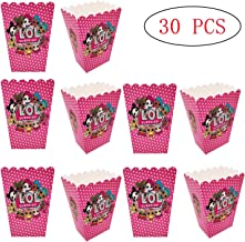 30 Pcs LOL Party Popcorn Boxes,Candy Container for Birthday Theater Themed for Kids LOL Themed Party
