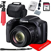 Canon PowerShot SX530 HS Digital Camera with 50x Optical Image Stabilized Zoom with 3-Inch LCD HD 1080p Video (Black) + 32GB Bundle