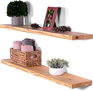 Best floating shelf natural wood Reviews