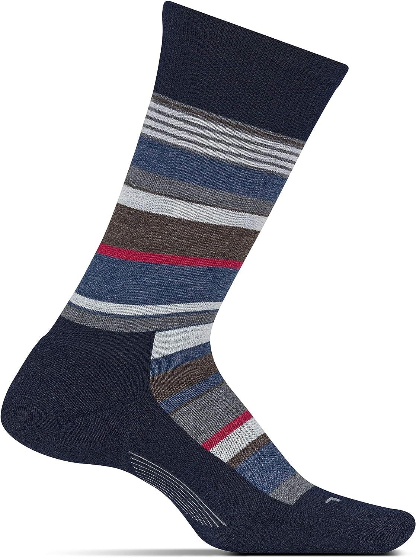 Feetures Mens Everyday Cushion Crew Sock