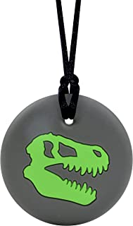 Dinosaur Skull - Sensory Chew Necklace for Boys by Munchables (Green)