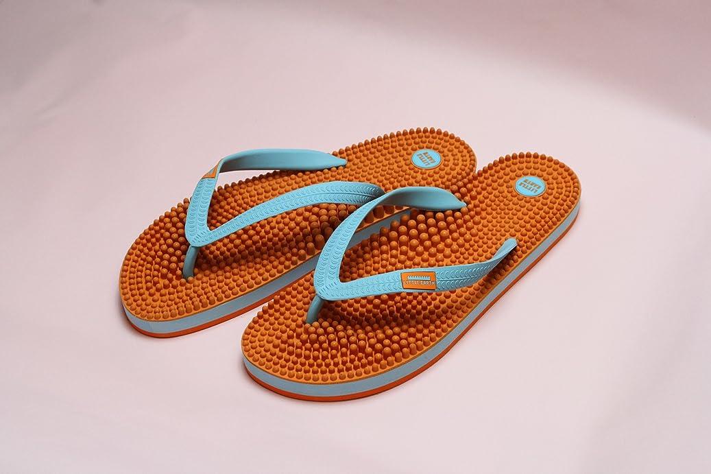 会社お茶線形リトルアース ボディポップ(body+pop) ビーチ(BeacH) 5002 オレンジ/ターコイズ 25cm