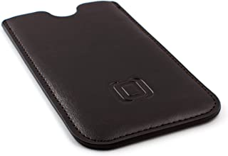 Dockem Executive Sleeve for Samsung Galaxy Note 8 - Slightly Padded Microfiber Lined Professional Synthetic Leather Smartphone Case, Slim (Dark Brown)