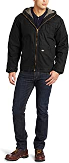 dickies Men's Sanded Duck Sherpa Lined Hooded Jacket Big-Tall