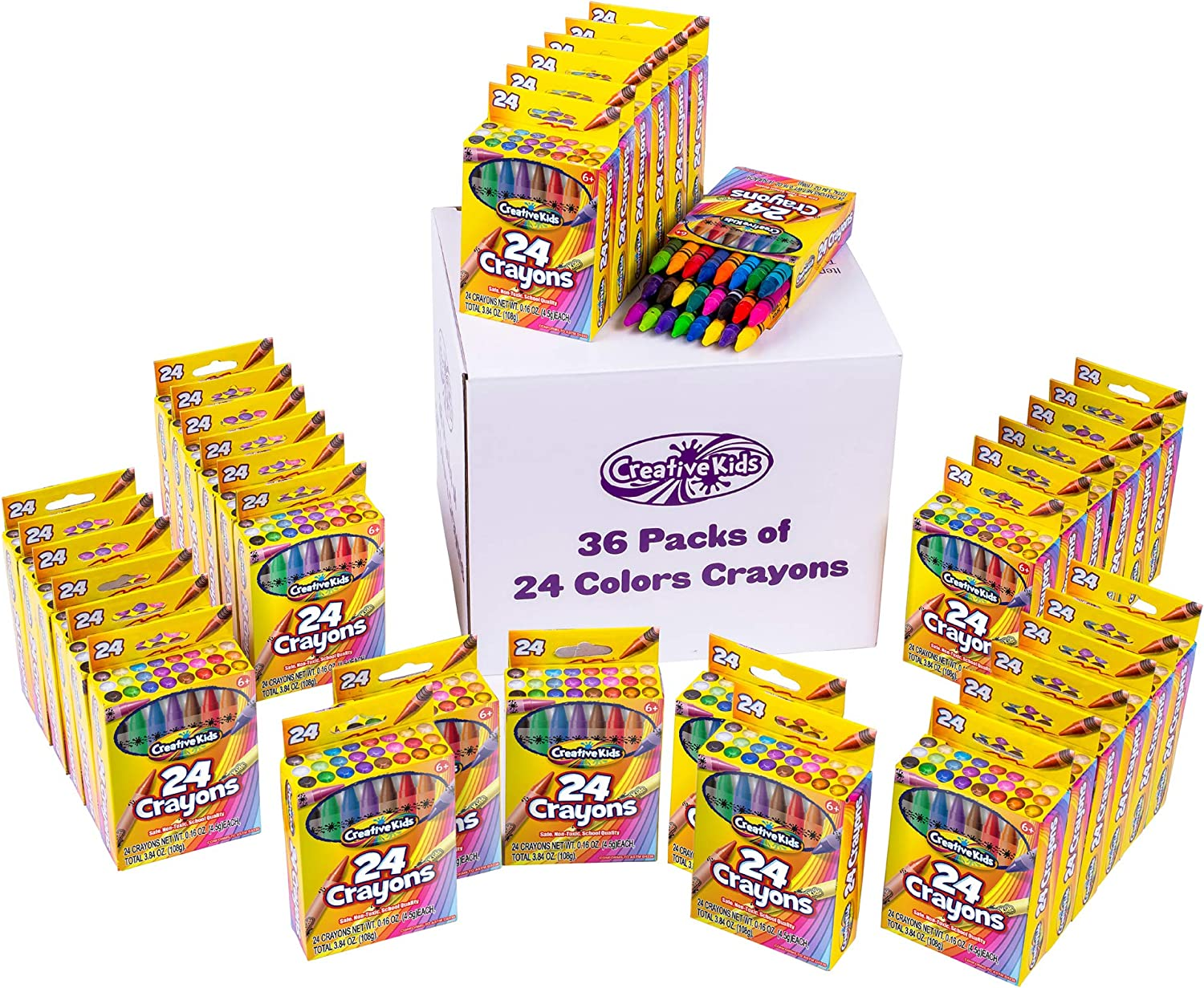 Max 44% OFF Creative Kids 864 Crayons Classpack Assortment favorite Boxes of 36 24 -