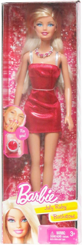 Barbie July Ruby Birthstone Doll
