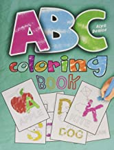 ABC coloring book: 2019 high-quality black&white Alphabet coloring book for kids ages 2-4. Toddler ABC coloring book PDF
