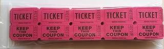 100 Hot Pink 50/50 Double Stub Raffle Tickets