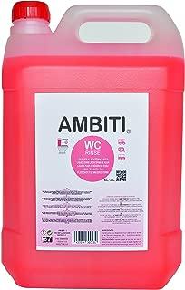 Ambiti Rinse 5 L. Aditivo para Cisterna del WC, desinfecta la Taza del Water.
