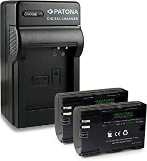 Bundle - 4en1 Cargador + 2x Premium Batería LP-E6 LPE6 para Canon EOS 5D Mark II | EOS 5D Mark III | EOS 6D | EOS 7D | EOS 60D | EOS 60Da | EOS 70D