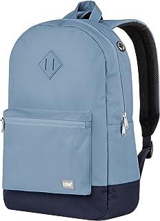 blnbag U6 – Leichter Rucksack mit Steckfach für Notebook, robuster Daypack wasserabweisend, Tagesrucksack für Damen und Herren, 19 Liter - Blau/Dunkelblau
