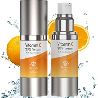 Topical Vitamin C Serum for Face - With Hyaluronic Acid - Acne Scar Treatment, Hydration - USA Made, Skin Tone Evener, Facial Serum Moisturizing Wrinkle Skincare For Brighter Skin and Face 1 oz.