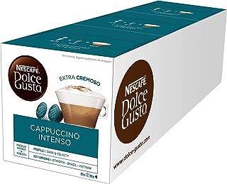 Nescafé Dolce Gusto Cappuccino Intenso, Café au Lait, Capsule de Café, Café, 16 Capsules (8 Portions)