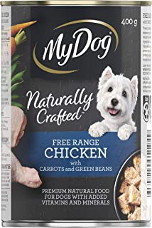MY DOG Naturally Crafted Wet Dog Food Chicken, 400g Can, 24 Pack, Adult, Small/Medium