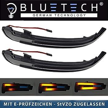 Un par Akozon Espejo retrovisor Luz de giro Indicador LED de luz de espejo retrovisor intermitente Para Focus 2008-2016 Focus MK2 MK3 2008-2018 Mondeo MK4 2011-2015