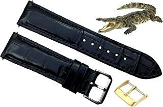 Men's Genuine Crocodiile Leather Watch Strap Band