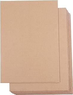 Hojas de Cartón Corrugado (Pack de 24) - A4 Marrón Plancha