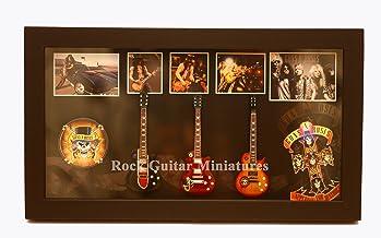 rgm8853Slash Guns N Roses de ferrocarril Guitar Collection in Shadowbox Frame
