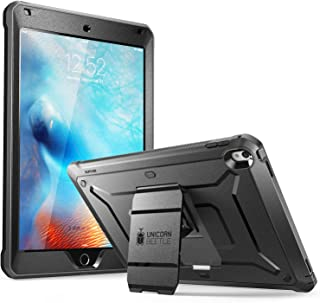 SUPCASE [Unicorn Beetle Pro Series] Case Designed for iPad Pro 9.7 inch, with Built-In Screen Protector [Heavy Duty] Full-body Rugged Protective Dual Layer Case for iPad Pro 9.7 2016 (Black/Black)