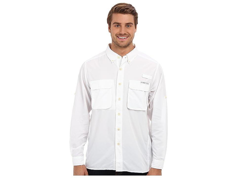 ExOfficio Air Striptm Long Sleeve Top (White) Men