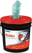 WypAll 91371CT Waterless Hand Wipes, Cloth, 9 x 12, 75 per Bucket (Case of 6 Buckets)