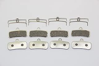 KINGSTOP JIM Aluminum-Back Bicycle Brake Pads for Shimano Zee BR-M640 Shimano Saint BR-M810/ M820 M800 (4 Pairs)