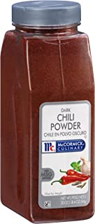 McCormick Culinary Dark Chili Powder, 20 oz, Premium Balances Earthy and Sweet Flavors, Slightly Hotter Than Light Chili P...