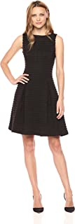 Women's Fit and Flare Novelty Jacquard Party Dress