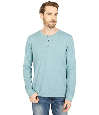 Threads 4 Thought Tyrone Flecked Long Sleeve Henley (Succulent) Men