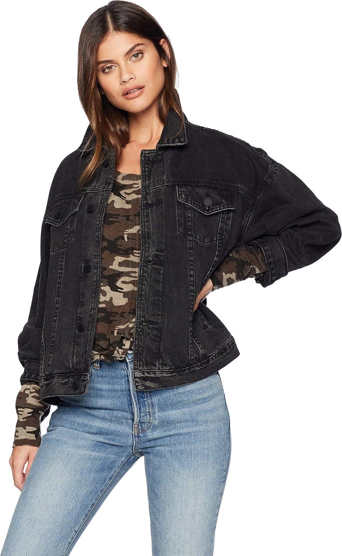 [BLANKNYC] Blank NYC Womens Trucker Jacket in Dirty Harry