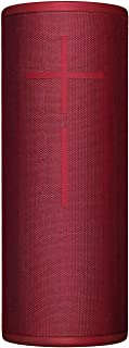 (Red, No Power Up) - Ultimate Ears MEGABOOM 3 Wireless Bluetooth Speaker (Powerful Sound + Thundering Bass, Bluetooth, Magic Button, Waterproof, Battery 20 Hours, Range 45 m) - Sunset Red