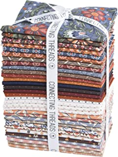 Connecting Threads Print Collection Precut Quilting Fabric Bundle Fat Quarters (Arcadian Dusk)