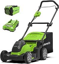 Greenworks Tools accu-aangedreven grasmaaier G40LM41K2 (Li-Ion 40V 41cm maaibreedte tot 250m² maaibreedte 2in1 mulching & ...