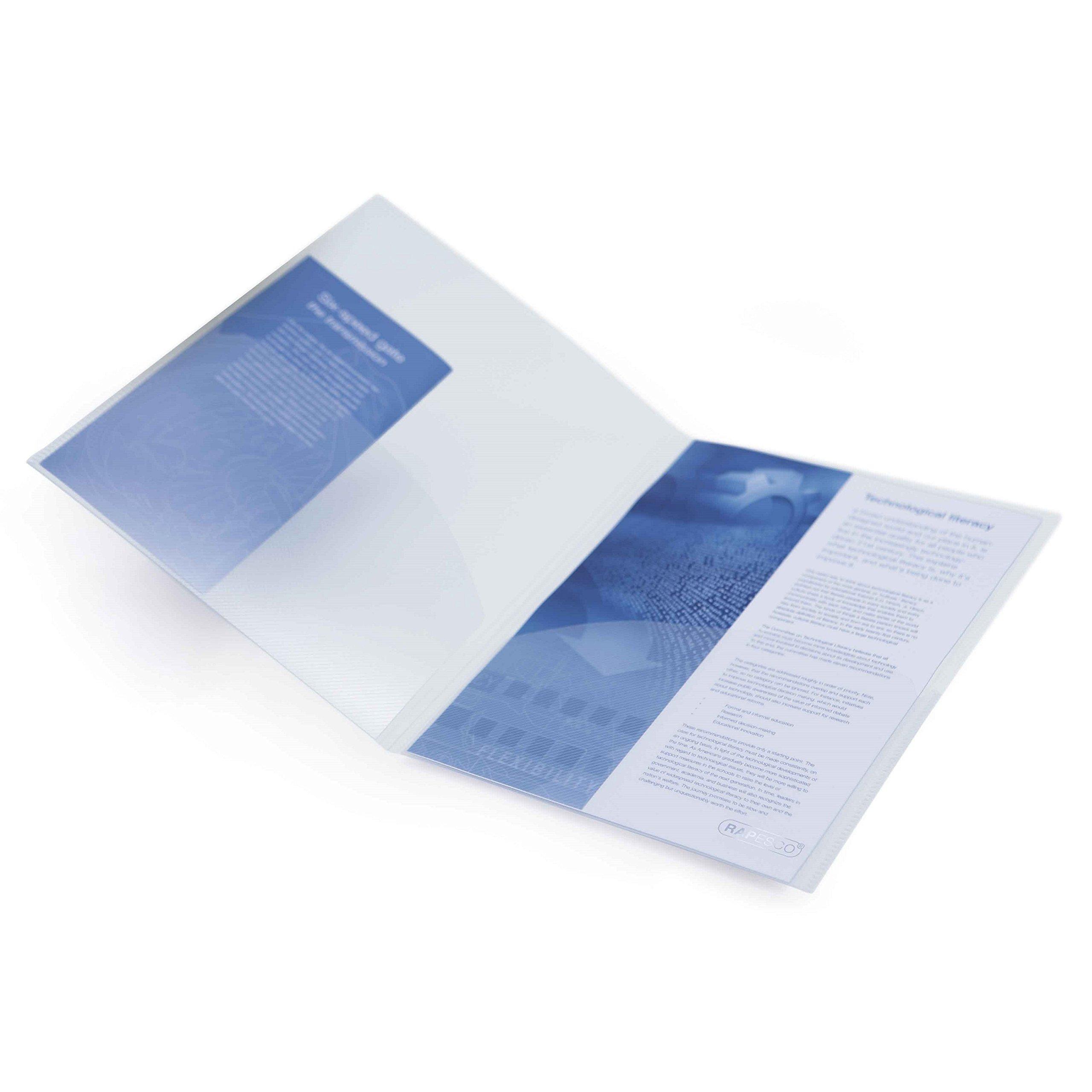 Rapesco Documentos transparente 5 unidades Carpeta portafolios A4 con doble bolsillo