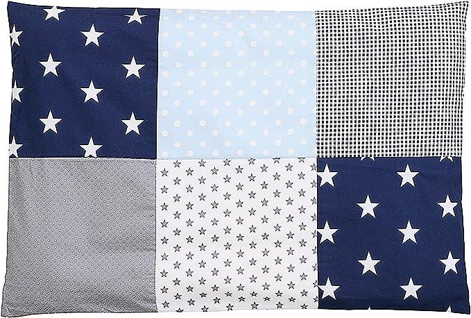 55 opinioni per Federa per guanciale per neonato ULLENBOOM ® 40x60, blu, azzurro, grigio (con