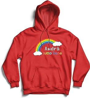 lepni.me Hoodie Sweatshirt Andra Tutto Bene Encouraging Phrase of Hope