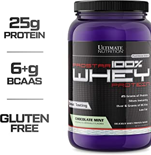 Ultimate Nutrition PROSTAR 100% Whey Protein Powder - Low Carb, Keto Friendly - 30 Servings, Chocolate Mint, 2 Pounds