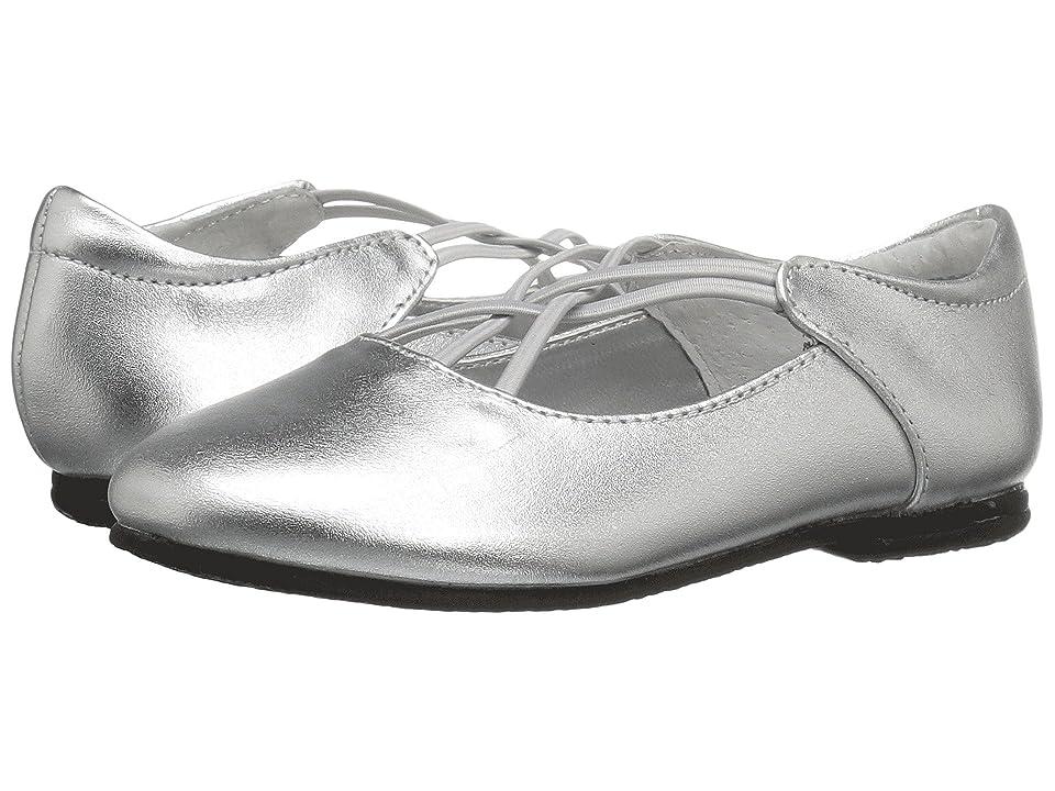 Jumping Jacks Kids Balleto Kendra (Toddler/Little Kid/Big Kid) (Silver Metallic Leather) Girls Shoes