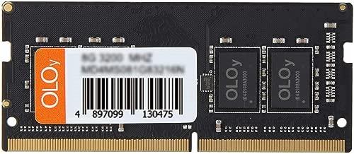OLOy 8GB (1x8GB) DDR4 RAM 2400MHz SODIMM Laptop Memory Module for Intel (MD4S082417IZSC)